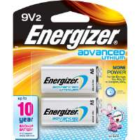 Energizer  Energizer Advanced Lithium 9-Volt Battery (2-Pack)