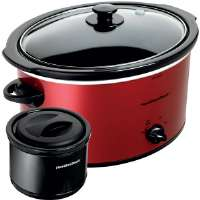 Hamilton Beach  Red Metallic 5-Quart Slow Cooker and Black 2-Cup Food Warmer