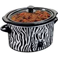 Hamilton Beach  3-Quart Slow Cooker with Zebra Pattern Design
