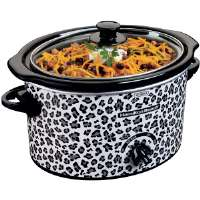 Hamilton Beach  3-Quart Slow Cooker with Cheetah Pattern Design