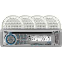 "Dual  Marine Audio System with 100-Watt AM/FM/CD Receiver and Four 6 1/2"" Dual Cone Speakers"