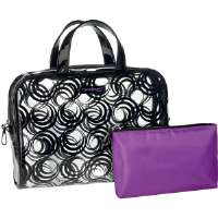 Travel Smart by Conair  Omni Printed Zippered Weekender Bag with Accessory Pouch
