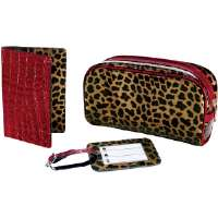 Travel Smart by Conair  Leopard Printed 3-Piece Travel Set