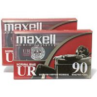 Maxell UR-90/2 Normal Bias Audiocassette - 90 Minutes, 2 Pack (108527-FLATPAK)
