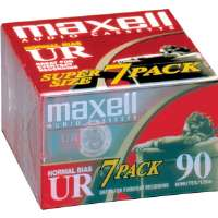 Maxell UR-90/7 Normal Bias Audiocassette Multi Pack - 7 Pack - 90 Minutes