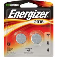 Energizer 2016BP-2 3V Lithium Button Cell Battery Retail Pack - 2-Pack