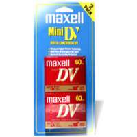 Maxell DVM-60SE/2 miniDV Videocassette - 2 Pack