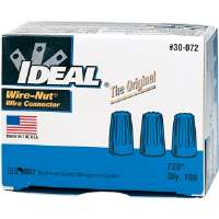 IDEAL 30-072 72B� Blue Wire-Nut� Wire Connector (Box of 100)
