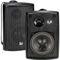 Dual LU43PB 4&quot; 3-Way 100-Watt Indoor/Outdoor Speakers - Black