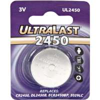 Ultralast UL-2450 Watch/Electronic Lithium Button Cell Battery Retail Pack - DL2450B Equivalent