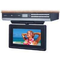"Audiovox VE-927 9"" Ultra-Slim Under-Cabinet LCD Drop Down TV with Built-In Slot Load DVD Player"
