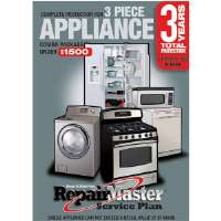 Repair Master A-RM3AP3 1500 3-Year Dop Warranty for Appliances - 3-Piece Combo Under $1,500