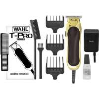 Wahl T-Pro Trimmer - Shave, Trim, Fade, Outline, Compact Size, T-Blade, Bump Prevent Technology, Corded, Cleaning Brush, Blade Oil, Trimmer Guide Combs - 9307-300