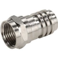 Steren 200-030-25 Crimp-On F Connector - RG-59 Nickel Plated - 25-Pack