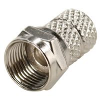 Steren 200-040-25 Nickel Plated Twist-On F Connector - RG-59 - 25-Pack