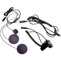 Midland AVP-H2 GMRS/FRS Motorcycle 2-Way Radio Headset Kit - For Closed Helmets