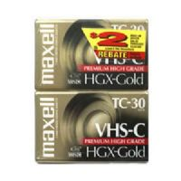Maxell 203020 Vhs-c Video Tapes (2 Pk)