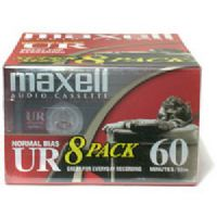 Maxell UR-60/8 Normal Bias Audiocassette Multi Pack - 8 Pack - 60 Minutes (109085)