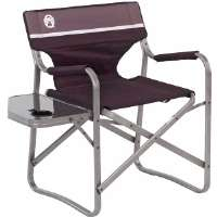 Coleman  Collapsible Aluminum Deck Chair with Side Table