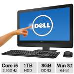 "Dell Inspiron 23 5000 All-In-One PC - Intel Core i5-4460S 2.90GHz, 8GB DDR3 Memory, 1TB HDD, DVDRW, 23"" Touchscreen, Windows 8.1 64-bit - I5348-5557BLK"