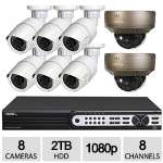Q-See 8CH 8CAM 1080p NVR Security Kit- QT848-8R5-2