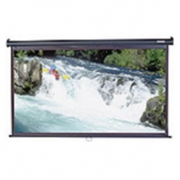 "Elite M84UWH 84"" Diagonal 16:9 Manual Pull Down Projection Screen - Black Case"