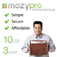 EMC Mozy Pro Online Back-Up Service - 10GB,  2 Year Contract