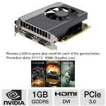 EVGA GeForce GTX 650 01G-P4-2650-KR Video Card - 1GB GDDR5, PCI-Express 3.0(x16), 1x Dual-link DVI-I, 1x Dual-link DVI-D, 1x Mini-HDMI, DirectX 11, Dual-Slot
