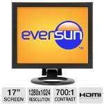"Eversun SH17 CCTV LCD Monitor - 17"" LCD Display, 1280x1024, 700:1 Ratio, BNC In/Out, PC Audio In/Out, HDMI, VGA"
