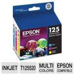 Epson 125 Multi-Pack - Color (cyan, magenta, yellow) - original - ink cartridge - for Stylus NX230 Small-in-One, NX420, NX530; WorkForce (T125520)