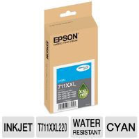 Epson 711XXL T711XXL220 Cyan Ink - up to 3,400 pages