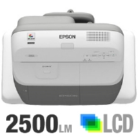 Epson PowerLite 450W Multimedia LCD Projector - 2500 ANSI Lumens, WXGA 1280x800, 16:10, 2000:1, DVI, VGA, HDMI, 13.8 lb
