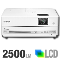 Epson PowerLite 2500 Presenter Multimedia Projector - 2500 ANSI Lumens, WXGA, 1280 x 800, 3000:1, 9.5 lb