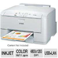 EPSON WorkForce Pro C Series WP-4010 Business Color Printer - Network - Up to 16ppm (Black), 11pm (Color), up to 4800x1200 dpi, Mobile Printing, Duplex (2-sided Printing), Energy Star, 3-Year Warranty