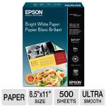 Epson Plain paper - Letter A Size (8.5 in x 11 in) 500 sheet(s) - for WorkForce 1100, 610, WF-2520, 2530, 2540, 2750, 2760, 3540; WorkForce Pro (S041586)