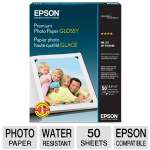 Epson Premium - Glossy photo paper - Letter A Size (8.5 in x 11 in) 50 sheet(s) - for Stylus NX625; WorkForce 63X, WF-2520, 2530, 2540, 2750, 2760, 3540; WorkForce Pro (S041667)