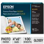 Epson Premium - Resin coated glossy photo paper - bright white - 4 in x 6 in 100 sheet(s) - for Stylus Pro 38XX; WorkForce WF-2520, 2530, 2540, 2750, 2760, 3540; WorkForce Pro (S041727)