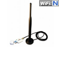 HiRO H50194 Wireless 802.11n USB WiFi WLAN Network Adapter High Gain 5dBi Omnidirectional External Antenna WPS Hotkey RoHS Windows 10 8.1 8 7 Vista XP 32-bit 64-bit