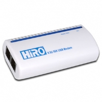 Hiro H50113 56K V.92 Data/Fax/Voice USB Modem - RoHS, Caller ID, Compatible with Windows 8