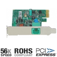 Hiro H50198 56K Data/Fax/Voice Low Profile PCIe Modem  -  V.92, RoHS, Caller ID, Compatible with Windows 8