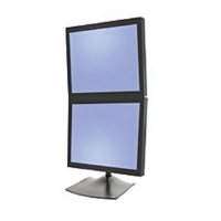 "Ergotron DS100 series Dual LCD Vertical Desk Stand for 15""-20""  LCD's - Black"