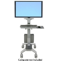Ergotron Neo-Flex WideView WorkSpace - Cart for flat panel / keyboard / mouse / CPU - plastic, aluminum, steel - two-tone gray - screen size: up to (24-189-055)