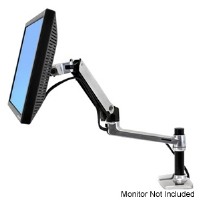 "Ergotron LX 45-241-026 Desk Mount LCD Arm - For Flat Screens of Up to 24"", Silver"