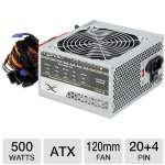 ENYLE 500W ATX Power Supply - 120mm Fan, 50/60 Hz, 20A@3.3V, 22A@5V, 12V@28A, 0.3A@-12V, 2.5A@5VSB, 100,00 Hours (EN-500F12)