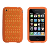 XtremeMac IPP-TWT-23 TuffWrap TaTu Case - Compatible For iPhone 3GS, Orange Hex