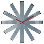 Ribbon Wall Clock in Gray