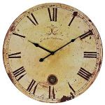 Vintage Wall Clock in Tan