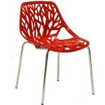 Stencil Dining Side Chair in Red