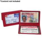 Royce Leather Tri-View ID Holder Card Case - 407-RED-5