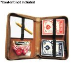 Royce Leather Double Decker Playing Card Case - 601-BLK-8